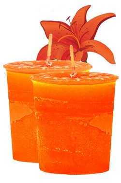 Tiger Lily Crystal Journey Traditional Votive Candles [ 2 ]