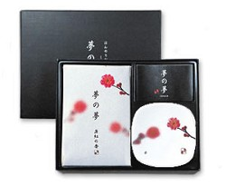 Yume-No-Yume Pink Plum Flower Japanese Incense Gift Set