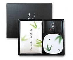 Yume-No-Yume Bamboo Leaf Japanese Incense Gift Set
