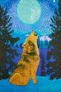 #9-3D Glow in the Dark Wolf Tapestry