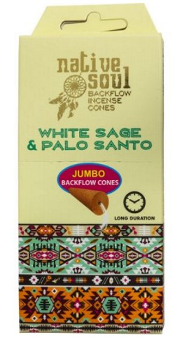 Green Tree - Jumbo Backflow Incense Cones - White Sage & Palo Santo