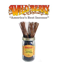 Rugged Leather Incense Sticks by Wild Berry Incense