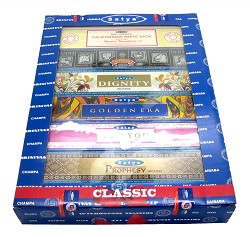 Satya Incense - 12-in-1 Classic Series Gift Pack - 15gr (12 Packs/Box)