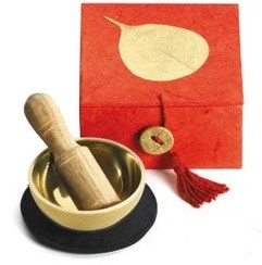 Singing Bowl - Golden Bodhi Mini Meditation Box