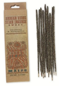 Prabhuji's Gifts - Andean Herb Incense - Harmony & Relaxation - [Sweet] - [10 Stick]