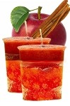 Apple Cinnamon Crystal Journey Traditional Votive Candles [ 2 ]