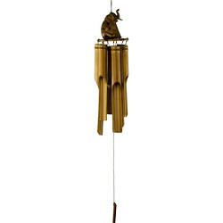 Wind Chimes - Bamboo Windchime Elephant