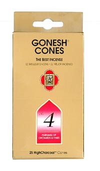 Gonesh Cone Incense -  No. 4 Incense Cones
