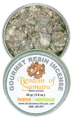 Gourmet Resin Incense - Benzoin of Sumatra 1.5 oz. Tin