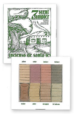 Incienso de Santa Fe - Seven Scent Sampler - 70 Bricks & Holder