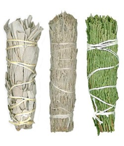 Mini Smudge Sampler (White Sage, Desert Sage & Cedar)