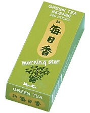 Morning Star Incense - Green Tea Incense 200 Stick Box