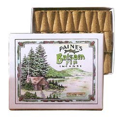 Paine's 32 Incense Cones w/ Holder - Balsam Fir Classic