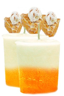 Peaches N Cream Crystal Journey Traditional Votive Candles [ 2 ]