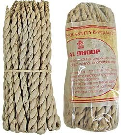 "Sal Dhoop Rope Tibetan Incense - 50 Ropes - 5"" Long"