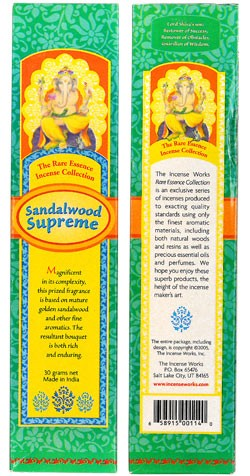 The Rare Essence Incense Collection - Sandalwood Supreme Incense
