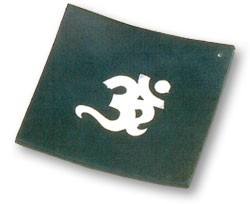 Incense Burner - OM Inlay Stone Plate Burner 4.5'' x 4.5''