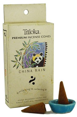 Triloka Incense Cones - China Rain
