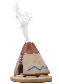 Incienso de Santa Fe - Teepee Incense burner w/Pinon Incense
