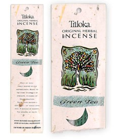 Triloka Original Herbal Incense - Green Tea Incense