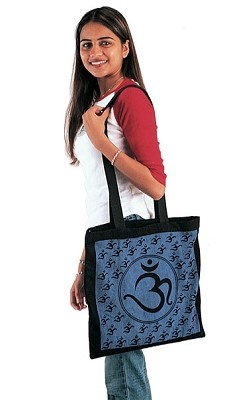 Cotton OM Yoga/Shopping Tote